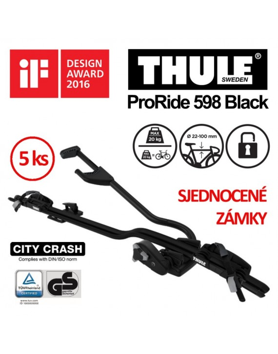 Thule ProRide 598 Black sada 5 ks