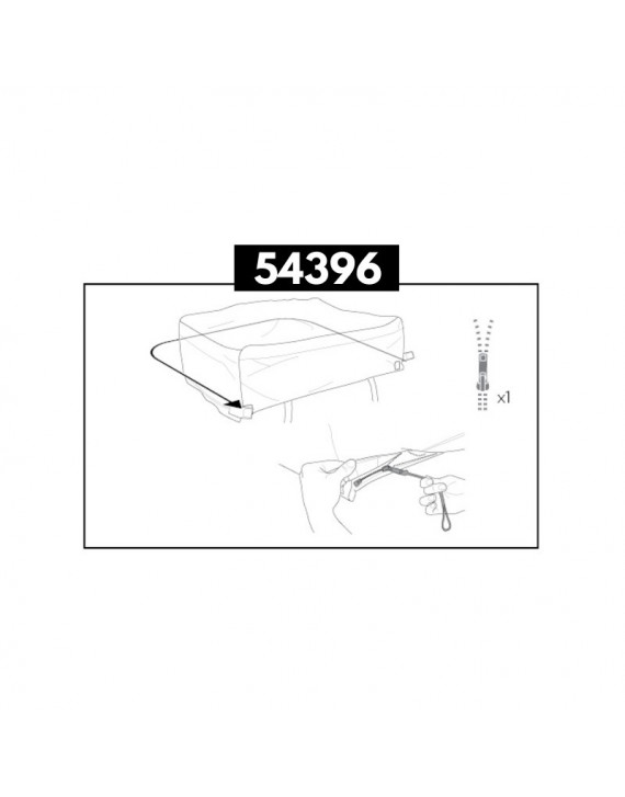 Travel Cover Zipper Assembly Thule 54396