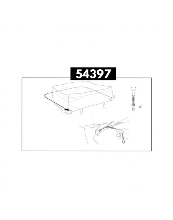 Travel Cover Zipper Assembly Thule 54397