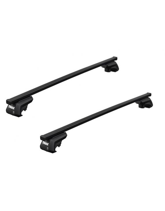 Příčníky Thule 7104 + ocelové tyče na vozidla s podélníky