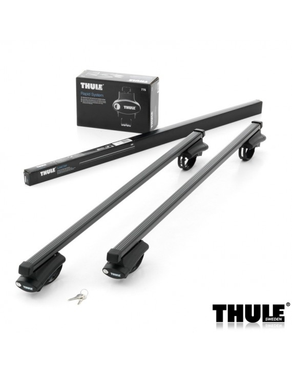 Příčníky Thule 775 + ocelové tyče na vozidla s podélníky