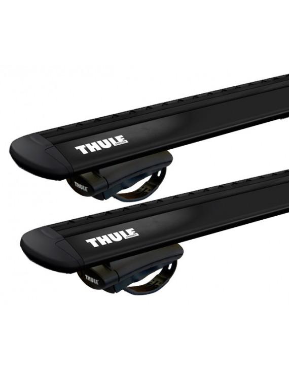 Příčníky Thule 775 + tyče WingBar Evo black na vozidla s podélníky
