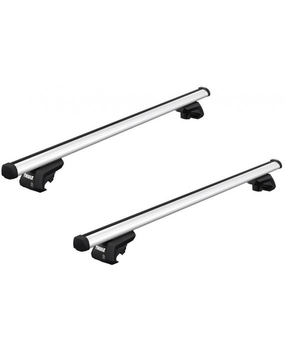 Příčníky Thule 7104 + Professional tyče na vozidla s podélníky