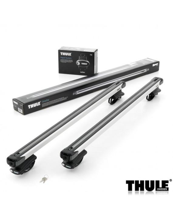 Příčníky Thule 775 + výsuvné tyče SlideBar 891 na vozidla s podélníky