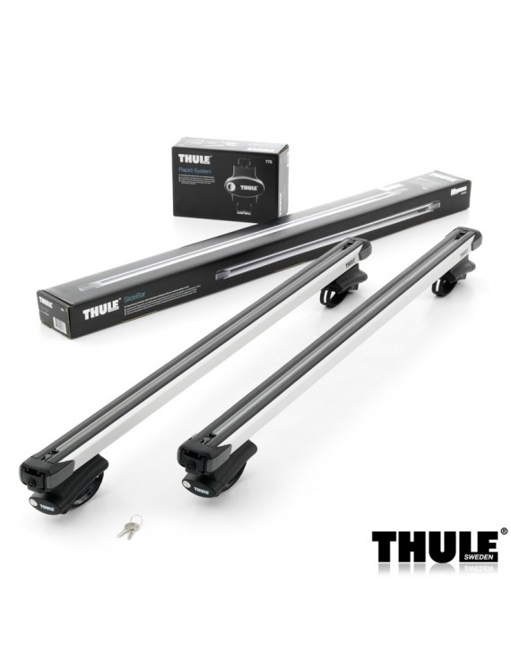 Příčníky Thule 775 + výsuvné tyče SlideBar 892 na vozidla s podélníky