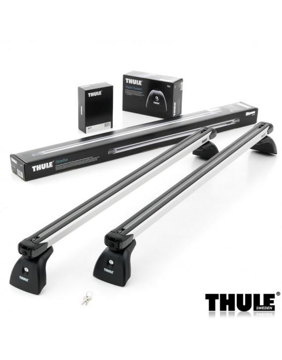 Příčníky Thule 751 + výsuvné tyče SlideBar 892 příprava ve střeše + kit