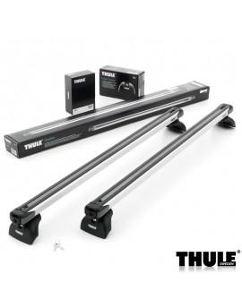 Příčníky Thule 753 + výsuvné tyče SlideBar 891 + kit integrované podélníky
