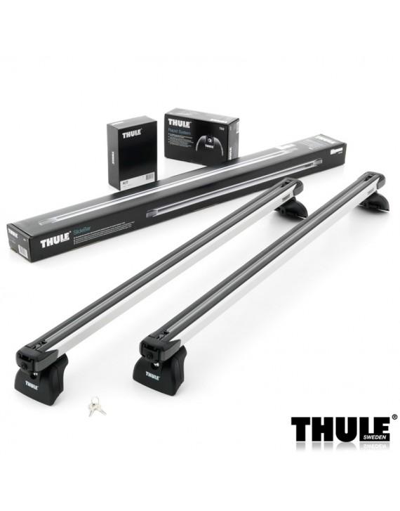 Příčníky Thule 753 + výsuvné tyče SlideBar 892 + kit integrované podélníky