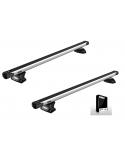 Příčníky Thule 7106 + výsuvné tyče SlideBar + kit na integrované podélníky