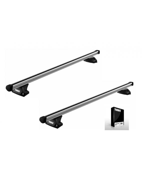 Příčníky Thule 7106 + Professional tyče 390 + kit na integrované podélníky