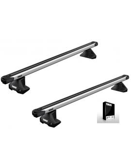 Příčníky Thule 7105 + výsuvné tyče SlideBar 891 + kit normální střecha