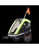 Dětský vozík za kolo Hamax Avenida One Petrol Lime 2019