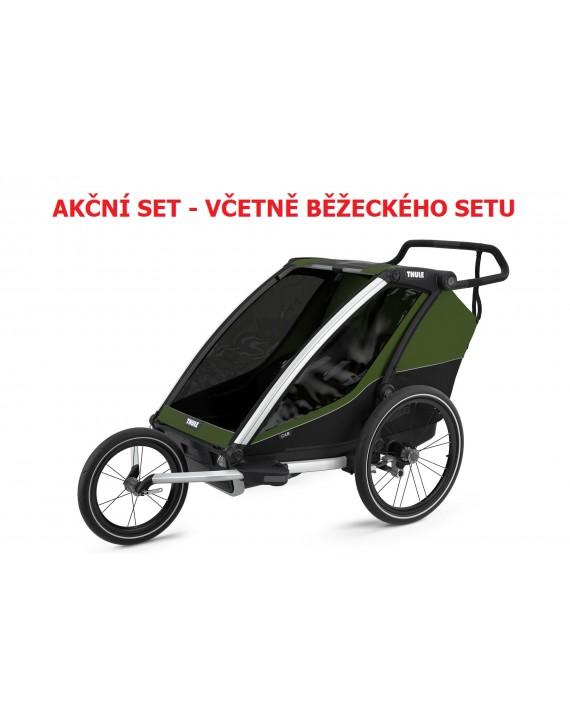 Thule Chariot Cab 2 Cypress Green 2021 + bike set + kočárkový set + běžecký set