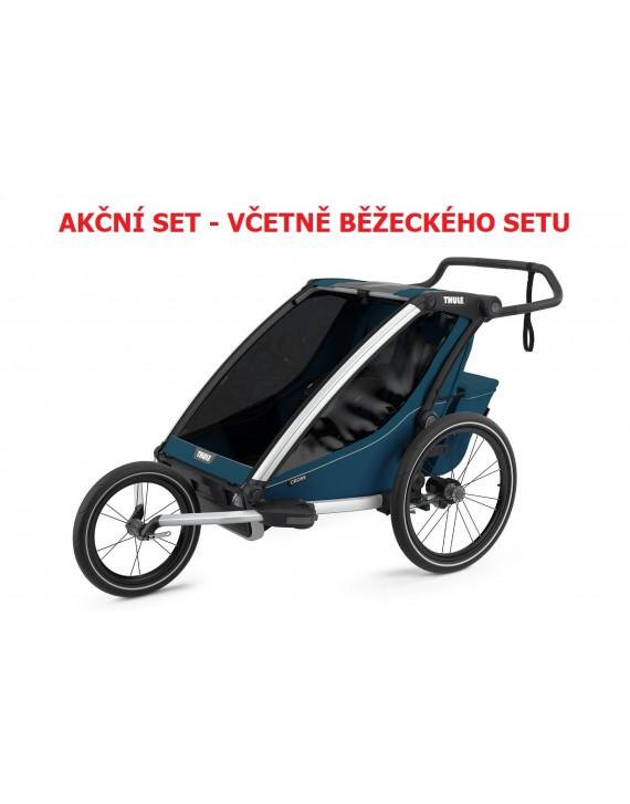 Thule Chariot Cross 2 Majolica Blue 2021 + bike set + kočárkový set + běžecký set