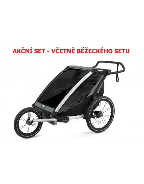 Thule Chariot Lite 2 Agave 2021 + bike set + kočárkový set + běžecký set