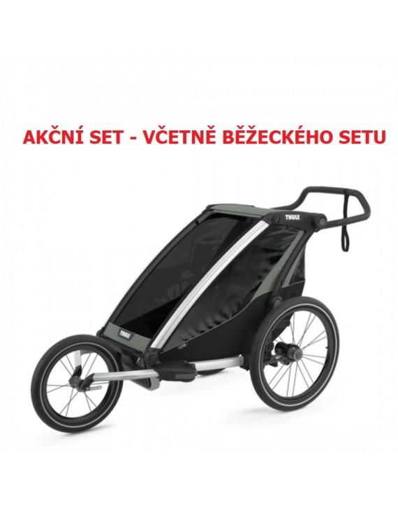 Thule Chariot Lite 1 Agave 2021 + bike set + kočárkový set + běžecký set